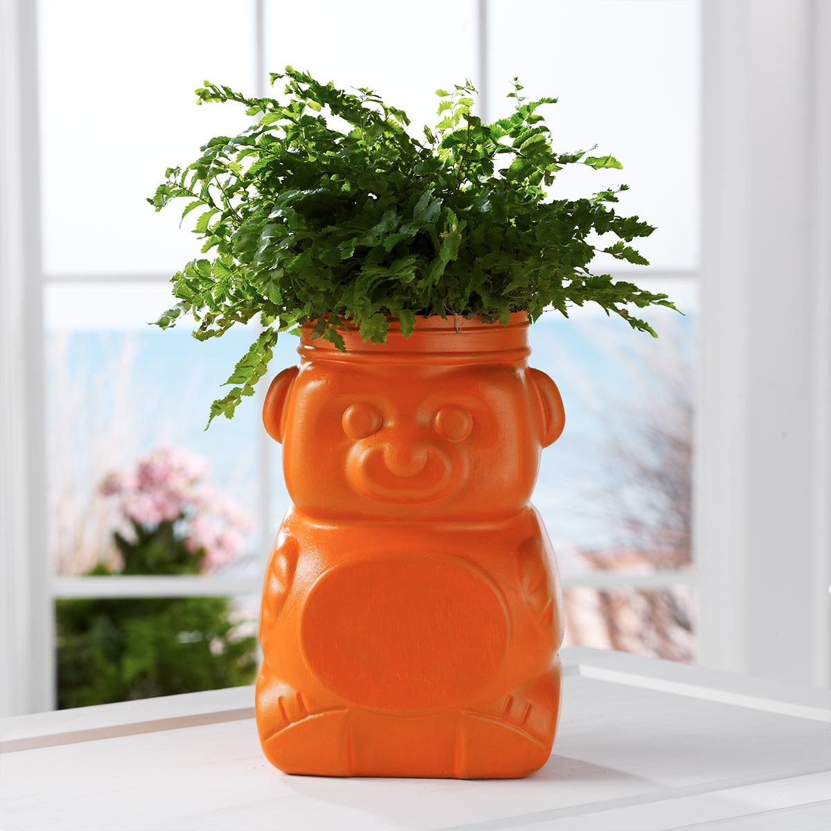 Recycled Animal Cracker Bear Planter