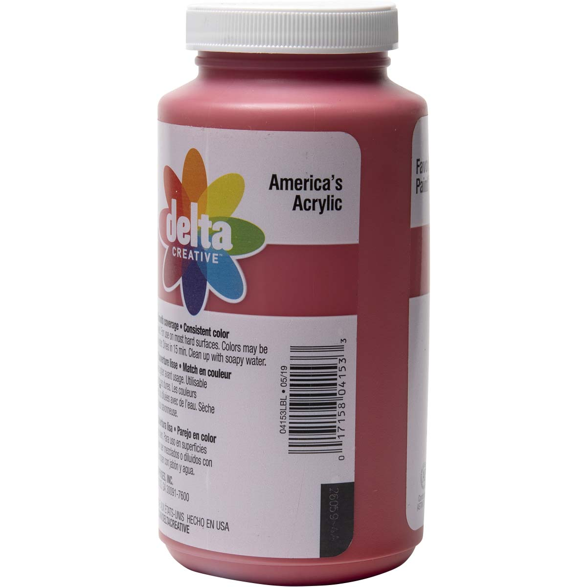 Delta Ceramcoat ® Acrylic Paint - Bright Red, 16 oz. - 04153