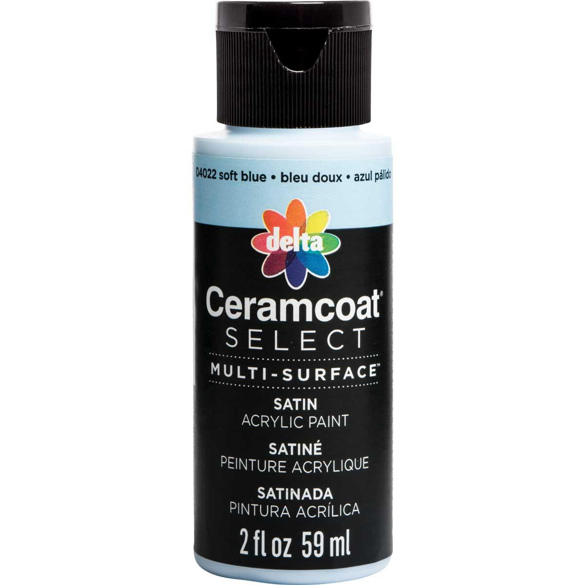 Delta Ceramcoat ® Select Multi-Surface Acrylic Paint - Satin - Soft Blue, 2 oz.