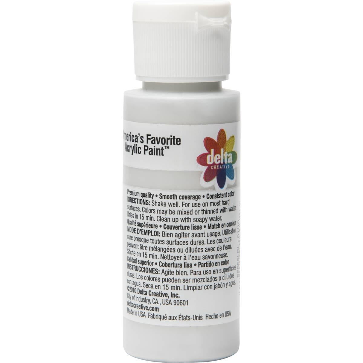 Delta Ceramcoat ® Acrylic Paint - Metallic Silver, 2 oz. - 026030202W