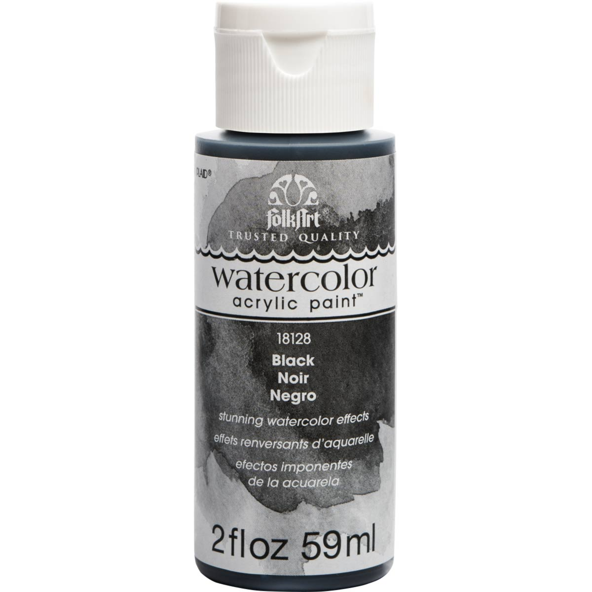 FolkArt ® Watercolor Acrylic Paint™ - Black, 2 oz. - 18128