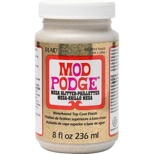 Mod Podge ® Mega Glitter - Gold, 8 oz.