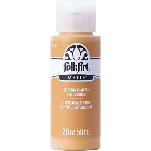 FolkArt ® Acrylic Colors - Teddy Bear Tan, 2 oz. - 419