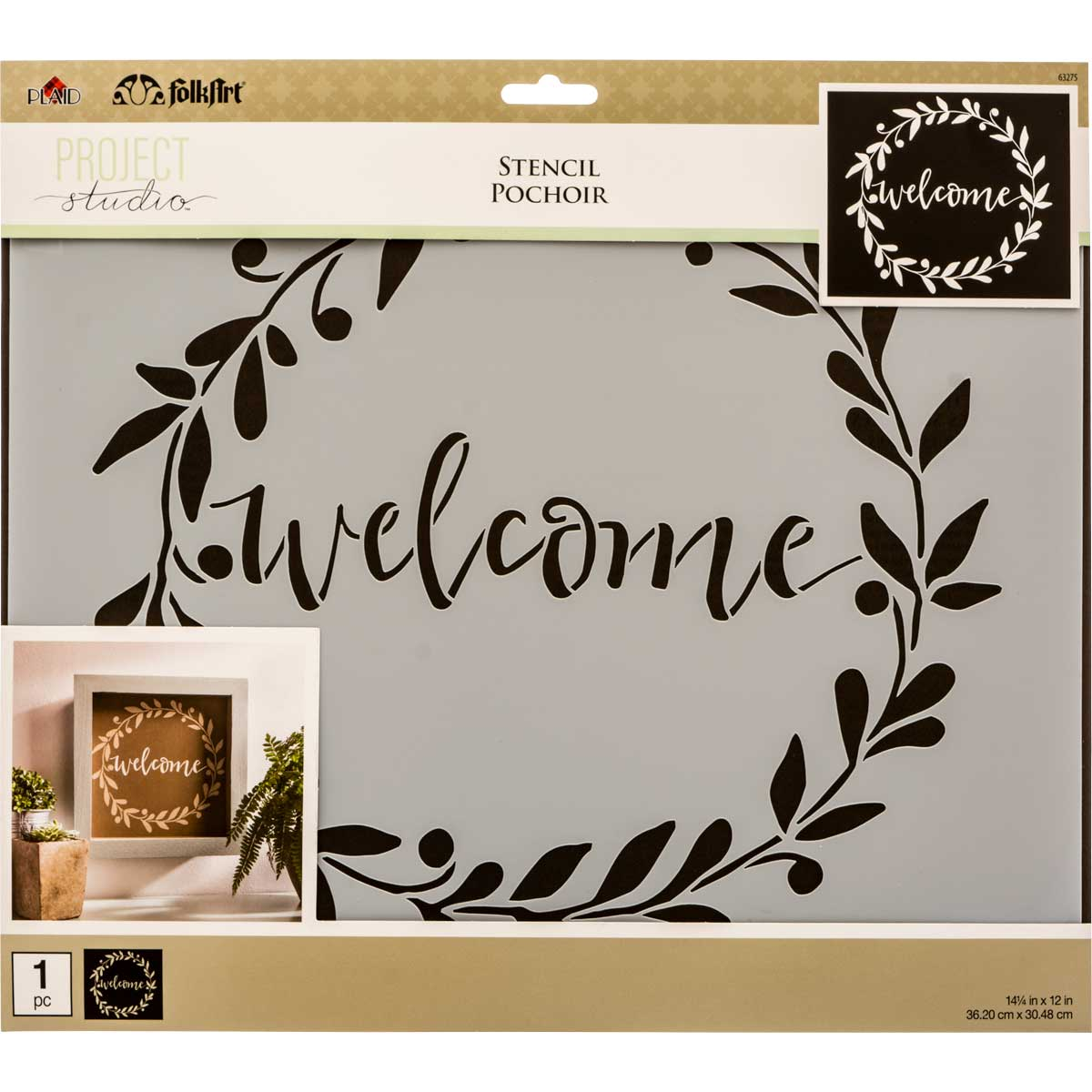 FolkArt ® Painting Stencils - Sign Making - Project Studio™ Welcome Wreath - 63275