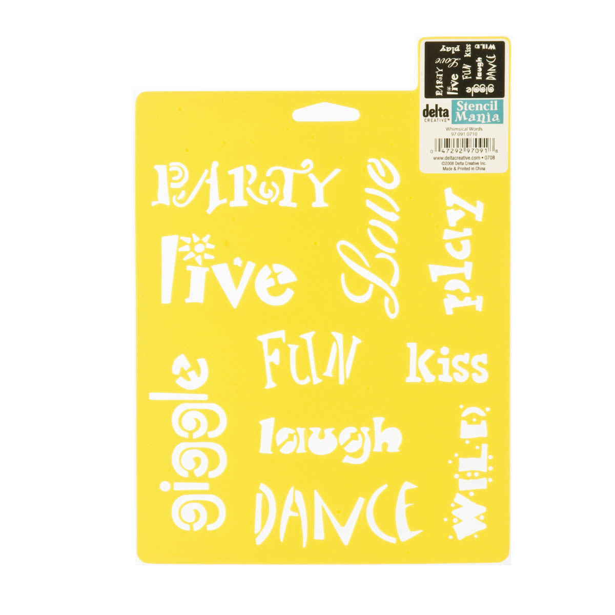 Delta Stencil Mania™ - Whimsical Words - 970910710