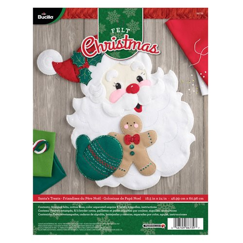 Bucilla ® Seasonal - Felt - Home Decor - Santa's Treats Wall Hanging - 86739