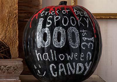 Blood Drip Chalkboard Pumpkin