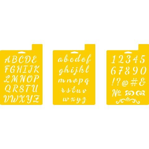 Delta Stencils - Script Alphabet