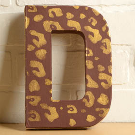 Animal Print Stenciled Letter