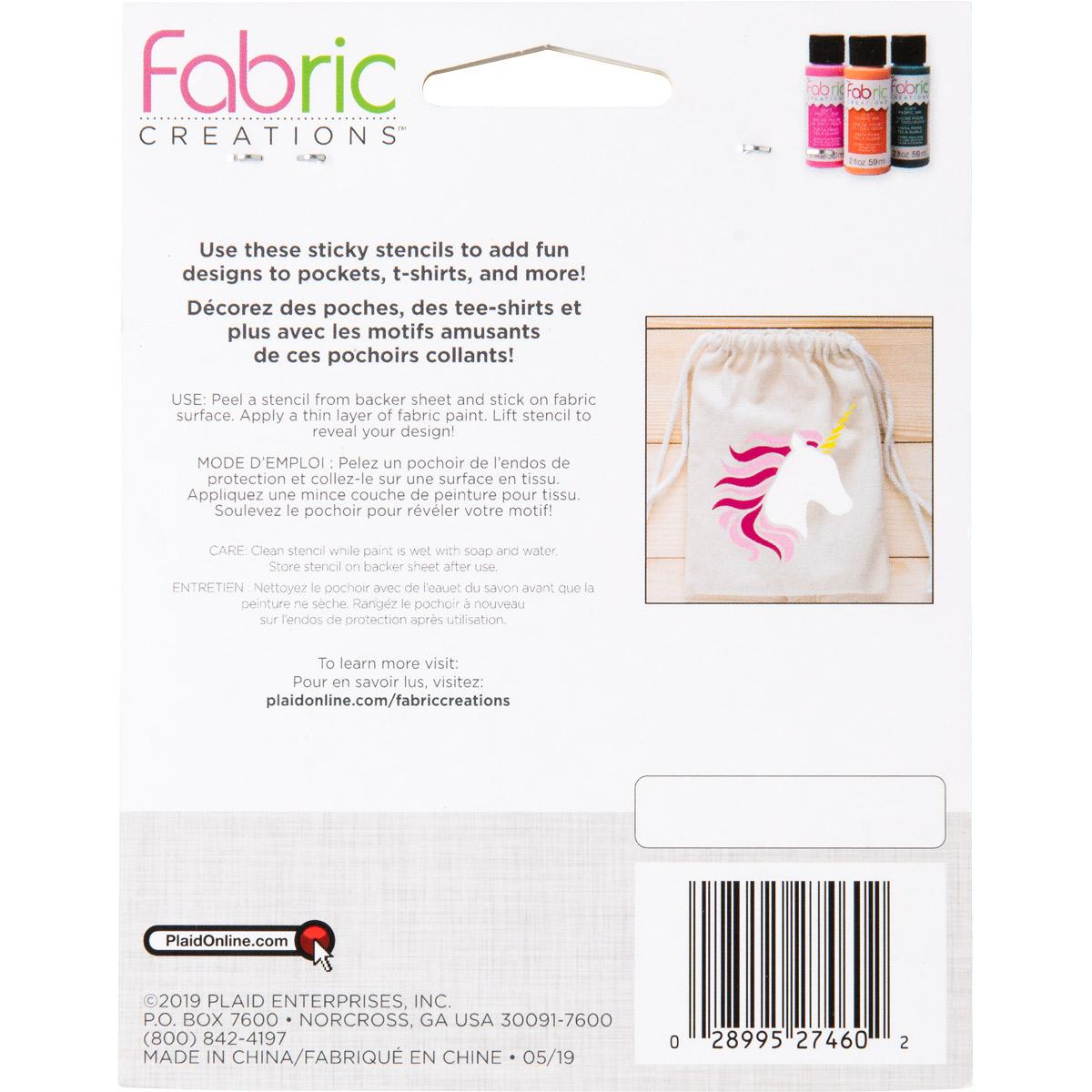 Fabric Creations™ Adhesive Stencils - Small - Unicorn, 3-1/2