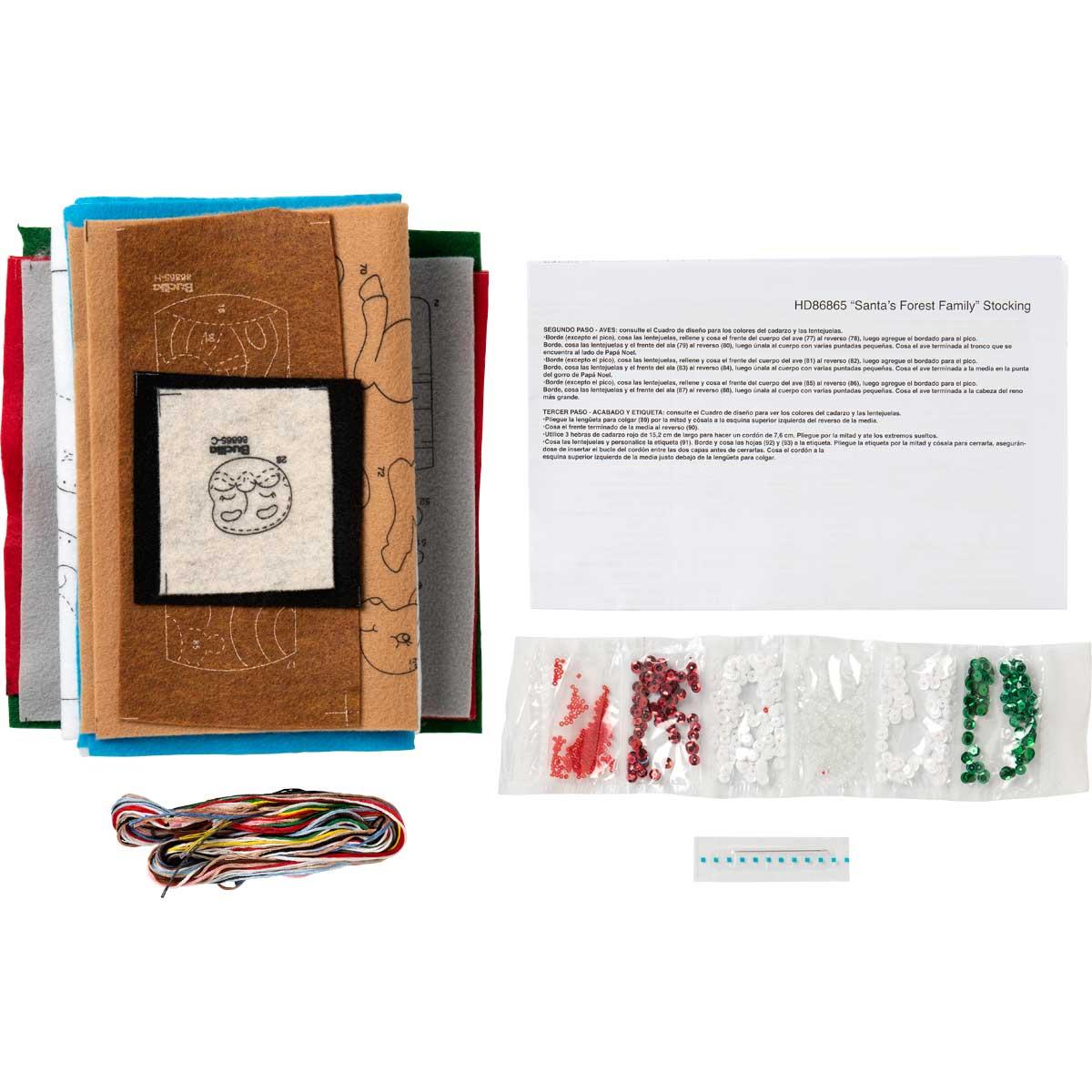 Bucilla ® Seasonal - Felt - Stocking Kits - Santa's Forest Family - 86865