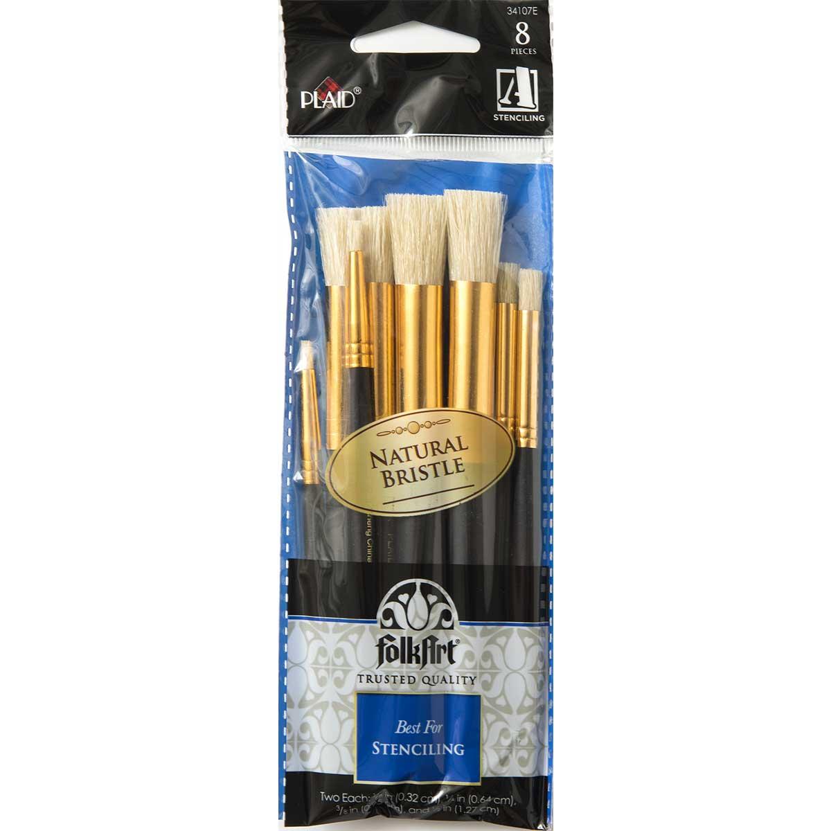 Folkart ® Brush Sets - Stencil Brush Set, Short Handle - 34107