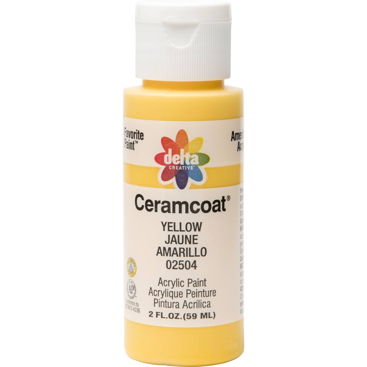 Delta Ceramcoat ® Acrylic Paint - Yellow, 2 oz. - 025040202W
