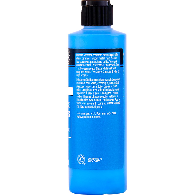 FolkArt ® Multi-Surface Metallic Acrylic Paints - Sapphire, 8 oz. - 4692