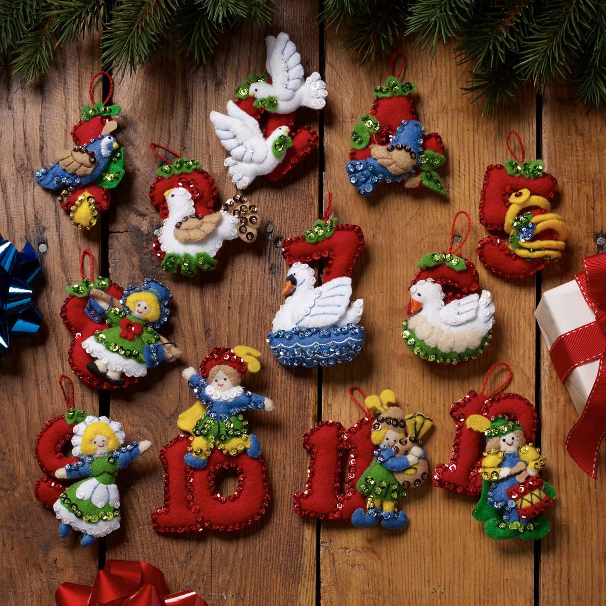 Bucilla ® Seasonal - Felt - Ornament Kits - Twelve Days of Christmas - 89446E