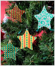 Glass Star Ornaments