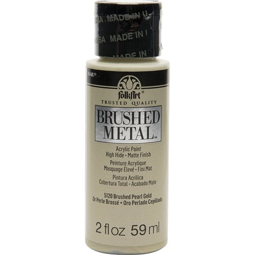 FolkArt ® Brushed Metal™ Acrylic Paint - Pearl Gold, 2 oz. - 5120