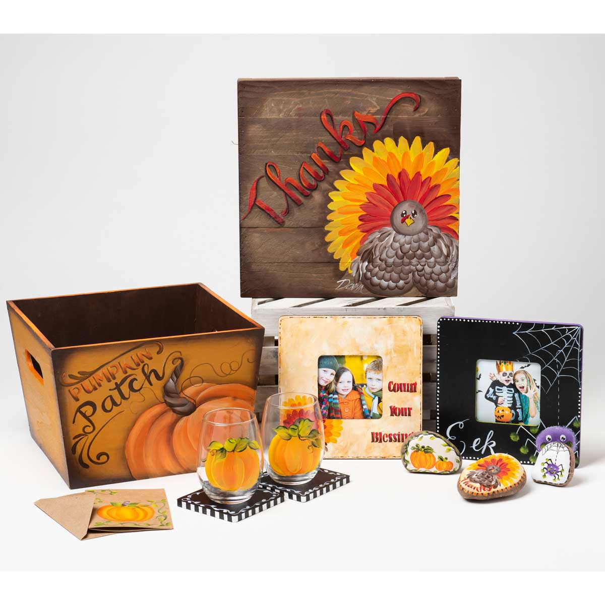 FolkArt ® One Stroke™ Holiday Painting Kit - Fall and Winter