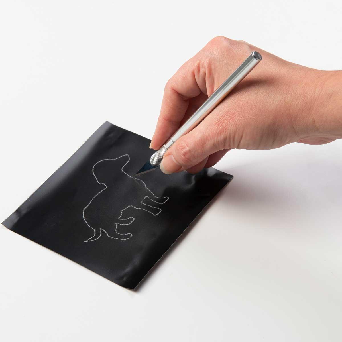 FolkArt ® Laser Cut Adhesive Stencils - Blank, 4 pc. - 63279