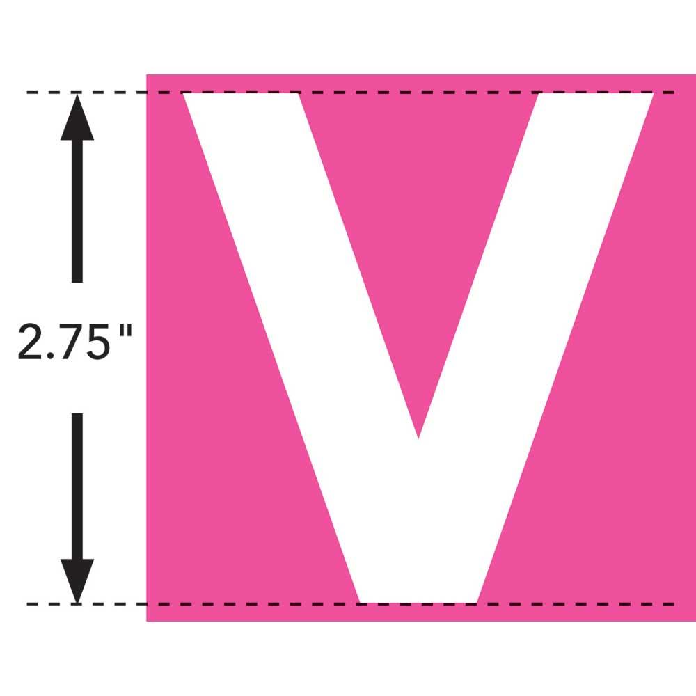LaurDIY ® Iron-on Fabric Letters - V - 19849
