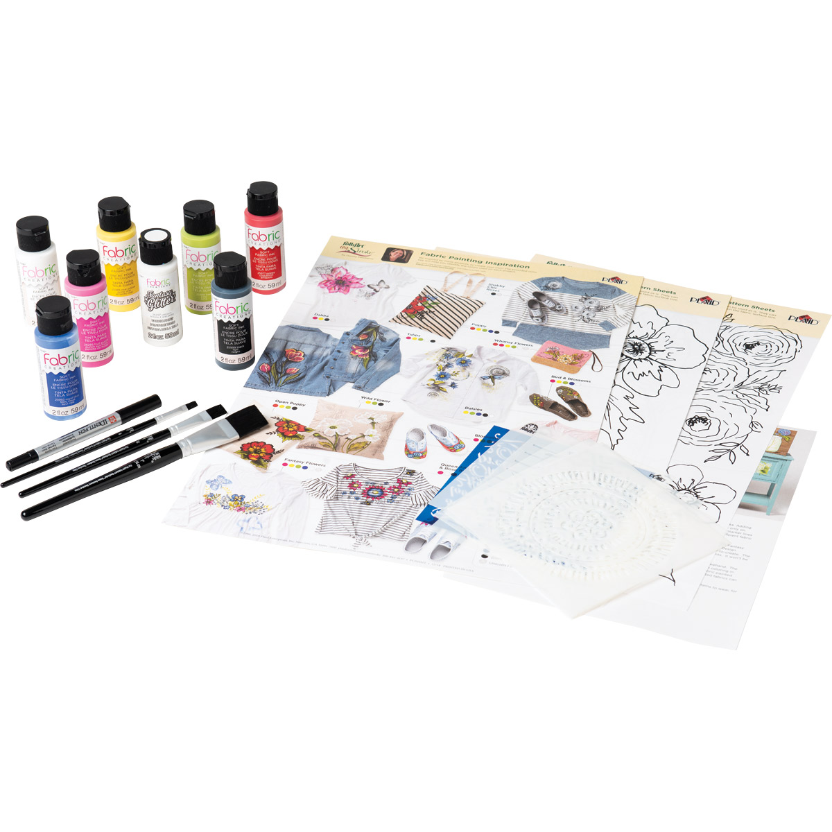 Fabric Creations™ One Stroke™ Fabric Paint Kit - 99272