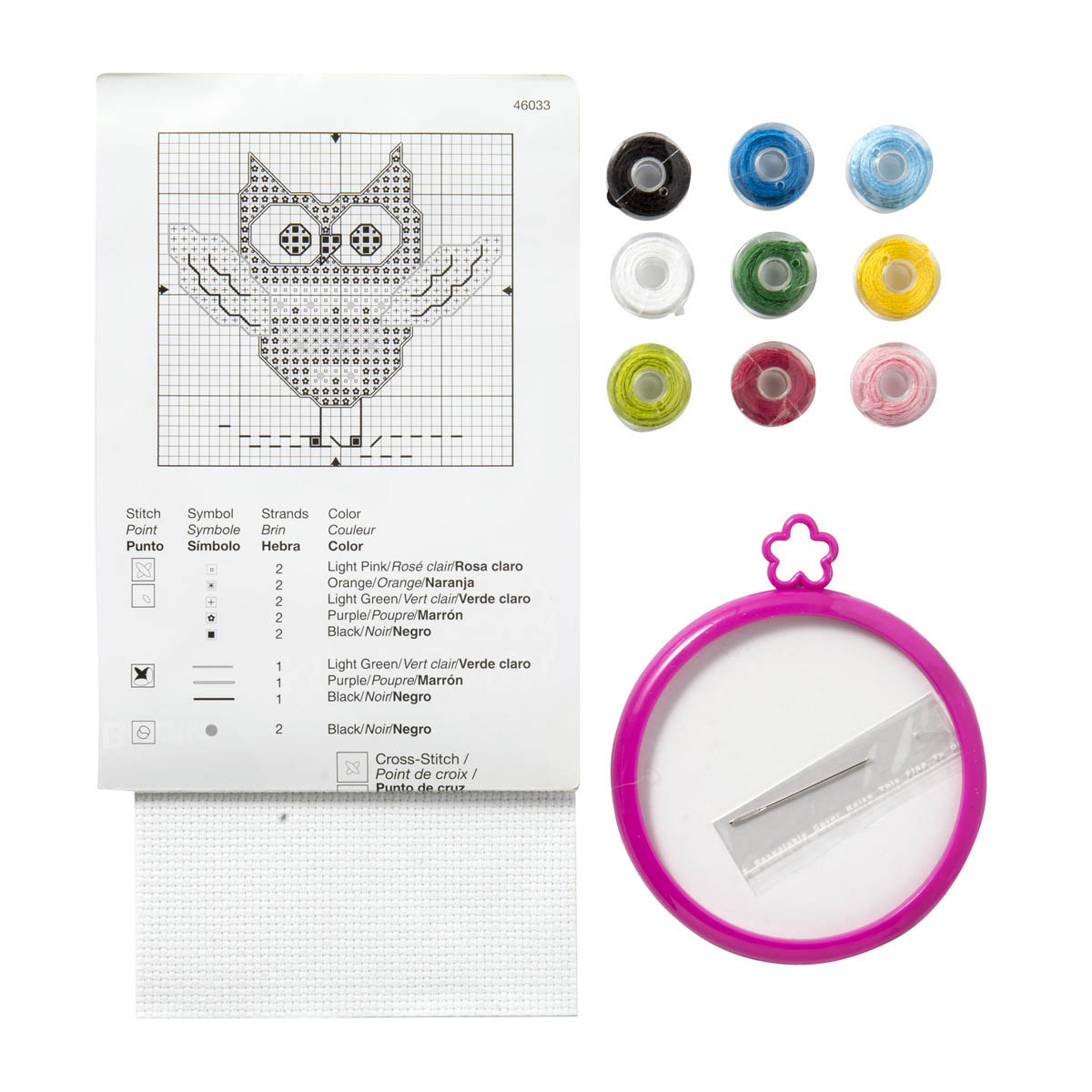 Bucilla ® My 1st Stitch™ - Counted Cross Stitch Kits - Mini - Owl - 46033