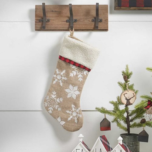 Farmhouse Burlap Stocking