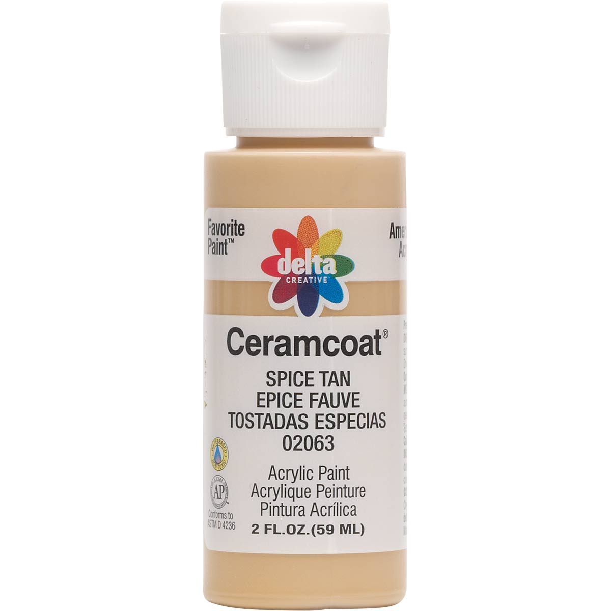 Delta Ceramcoat ® Acrylic Paint - Spice Tan, 2 oz. - 020630202W