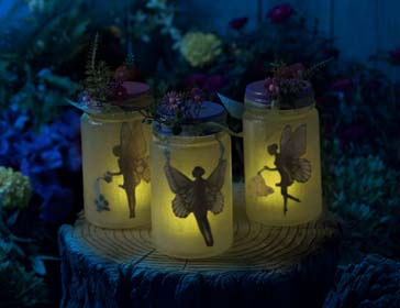 Easy Fairy Garden Idea - Lighted Fairy Jars