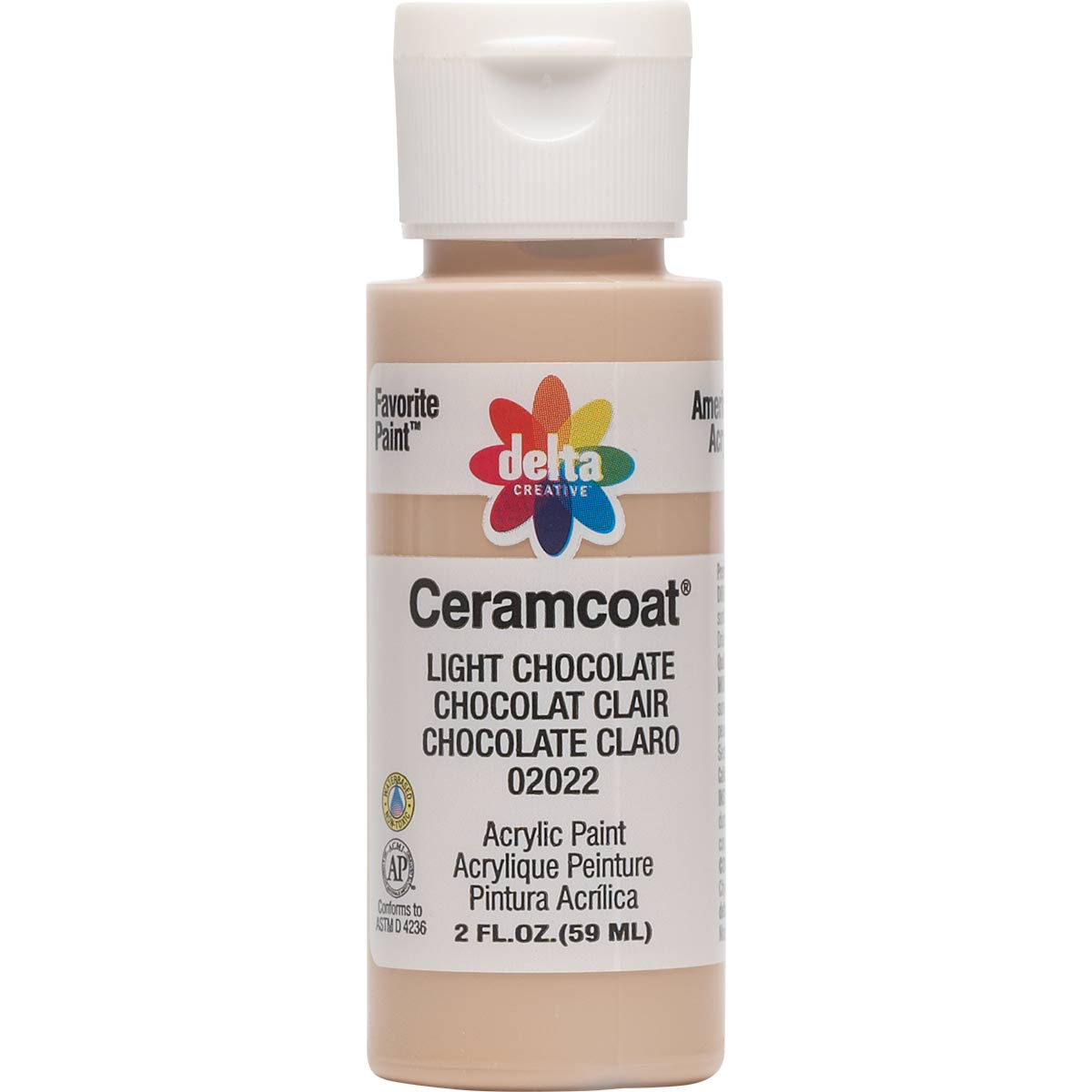 Delta Ceramcoat ® Acrylic Paint - Light Chocolate, 2 oz. - 020220202W
