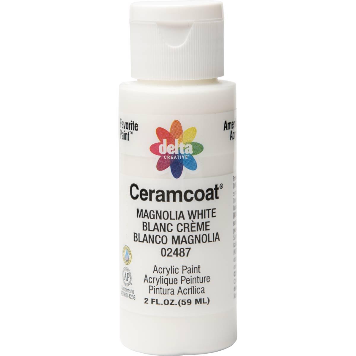 Delta Ceramcoat ® Acrylic Paint - Magnolia White, 2 oz.