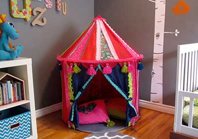 Boho Kids Backyard Tent