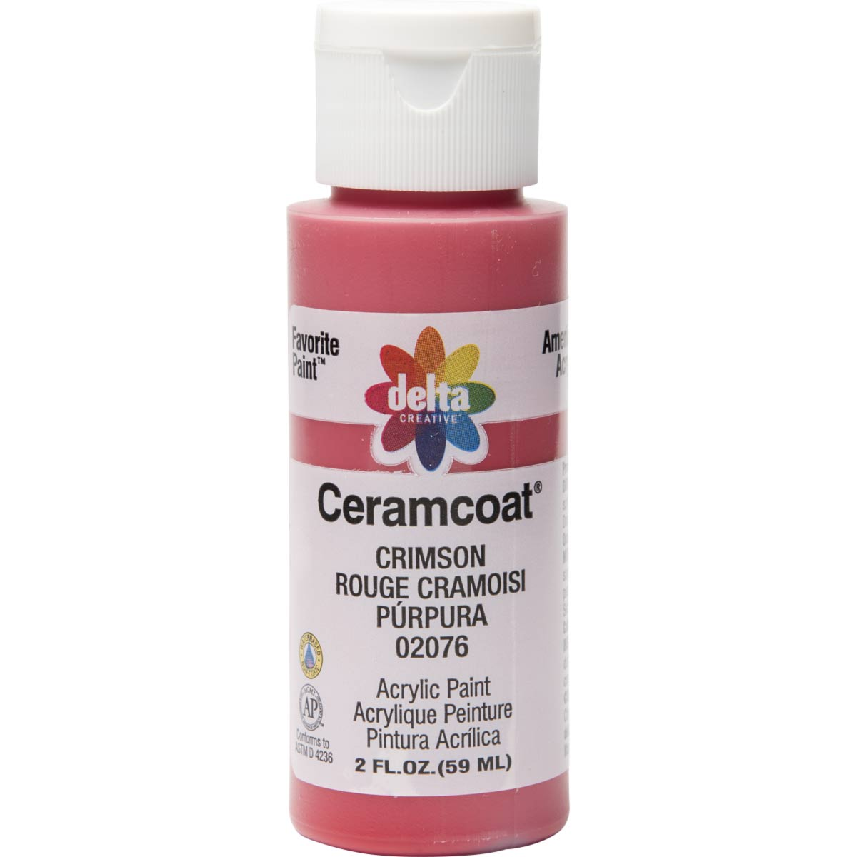 Delta Ceramcoat ® Acrylic Paint - Crimson, 2 oz.