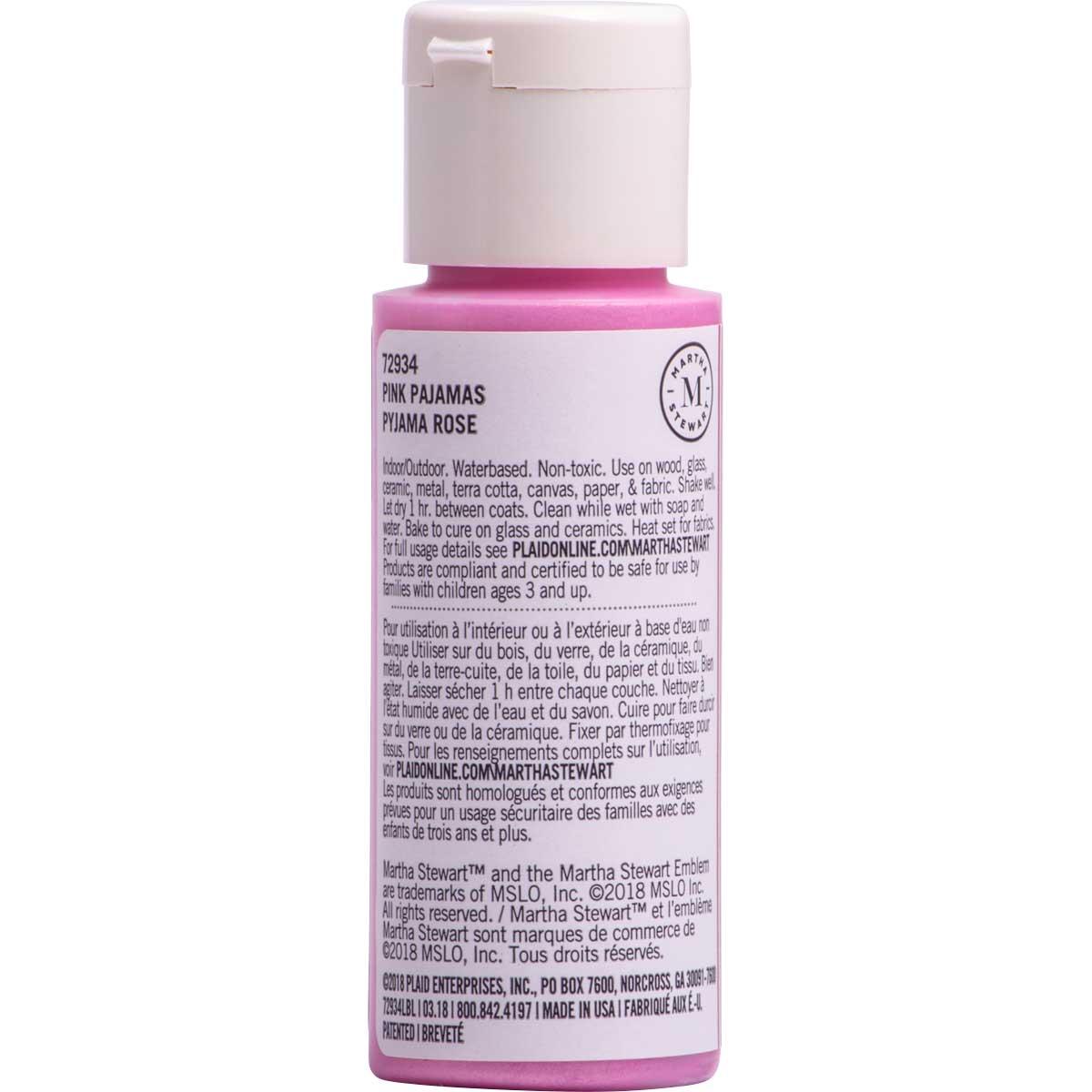 Martha Stewart ® Multi-Surface Pearl Acrylic Craft Paint CPSIA - Pink Pajamas, 2 oz. - 72934