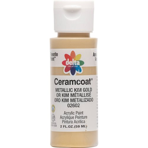 Delta Ceramcoat ® Acrylic Paint - Metallic Kim Gold, 2 oz. - 026020202W