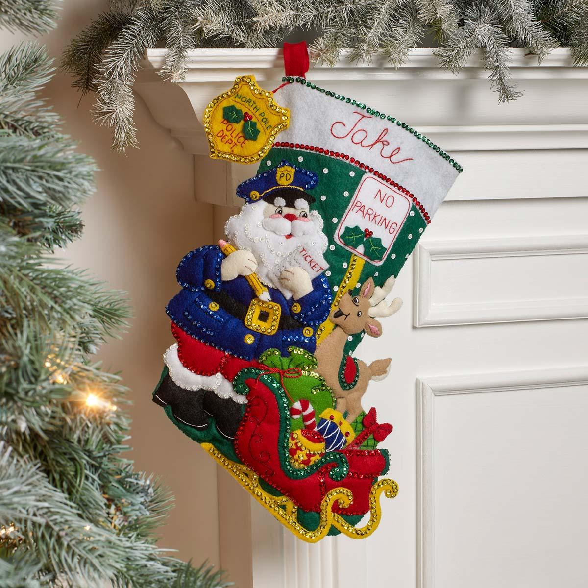 Bucilla ® Seasonal - Felt - Stocking Kits - Officer Santa - 89444E