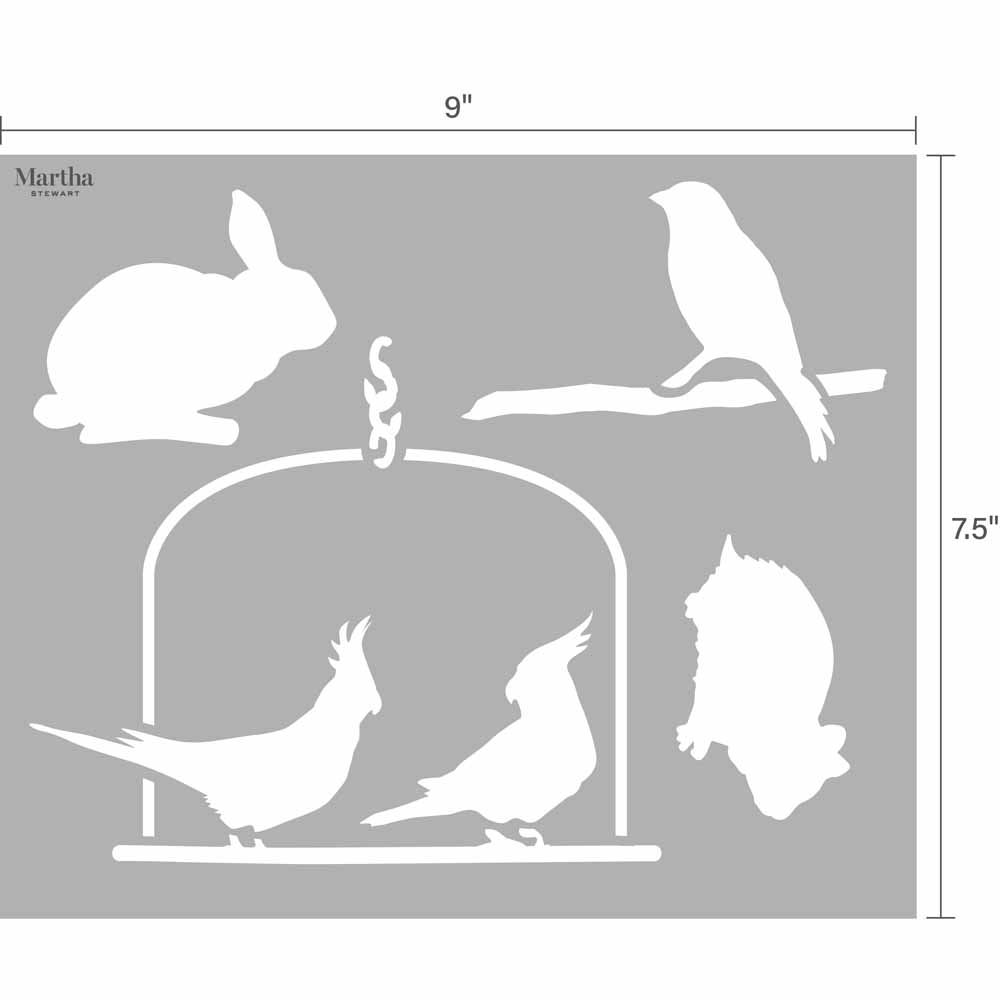 Martha Stewart ® Adhesive Paper Stencils - Pets - 6932