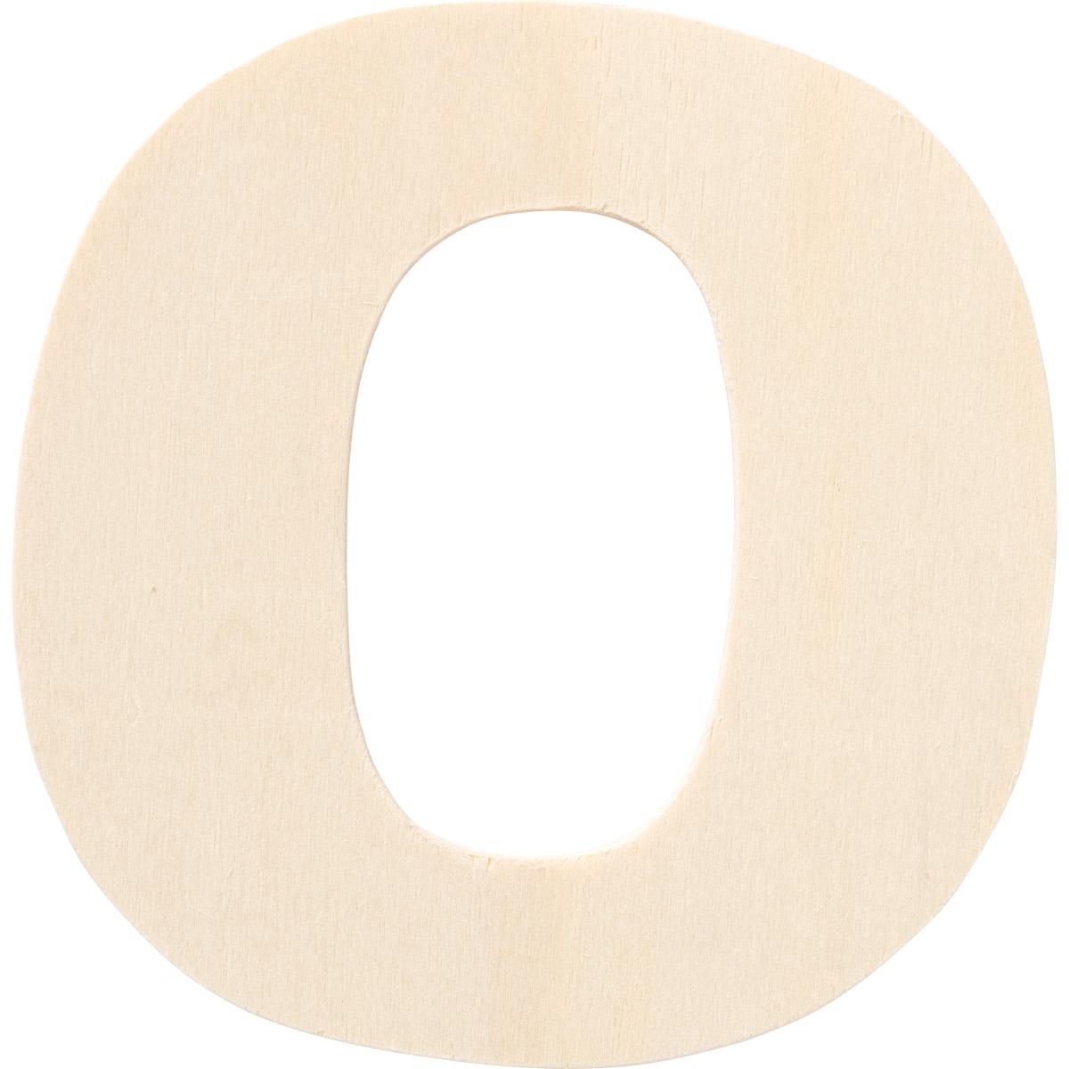 Plaid ® Painter's Palette™ Wood Letter - O. 4 inch - 23879