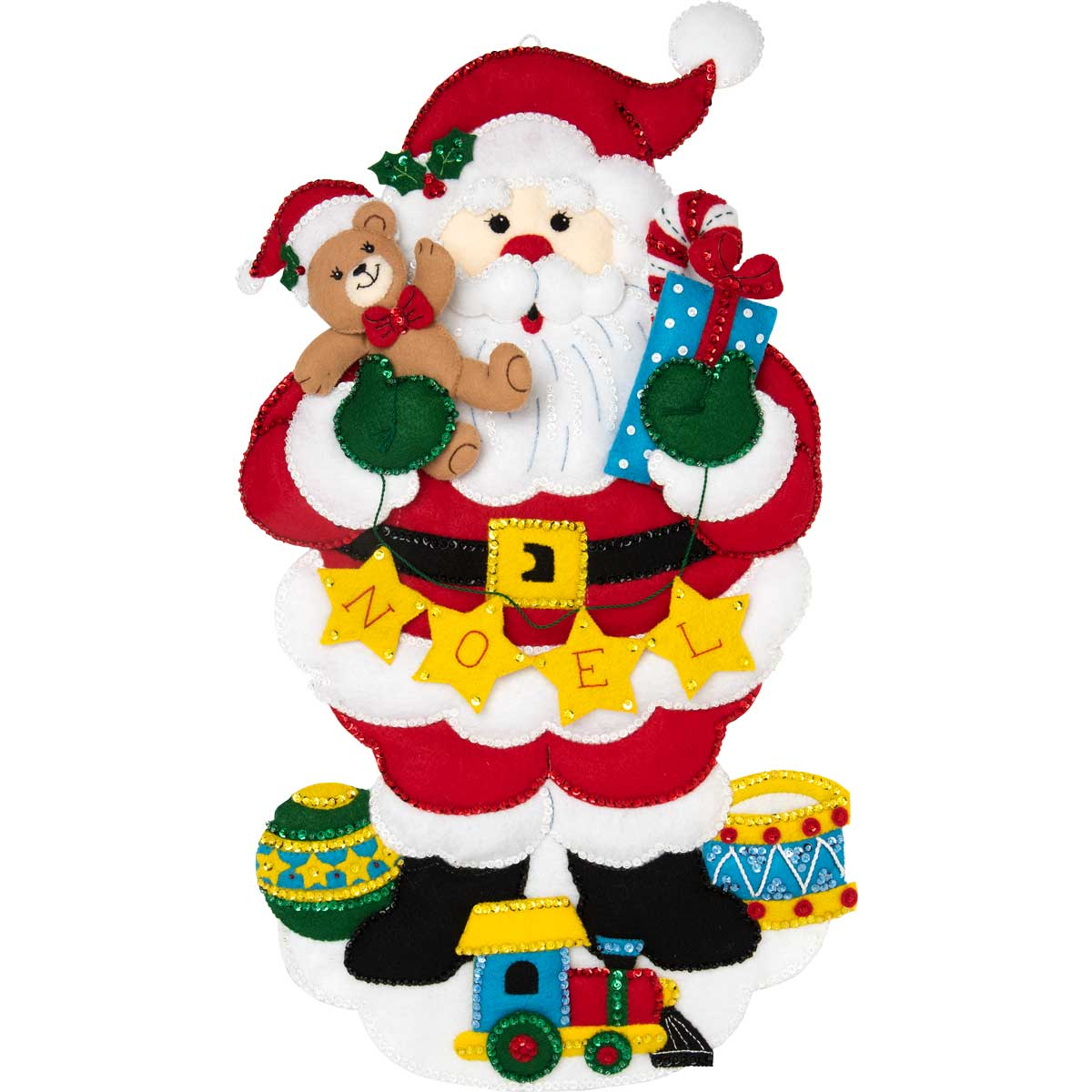 Bucilla ® Seasonal - Felt - Home Decor - Noel Santa Wall Hanging