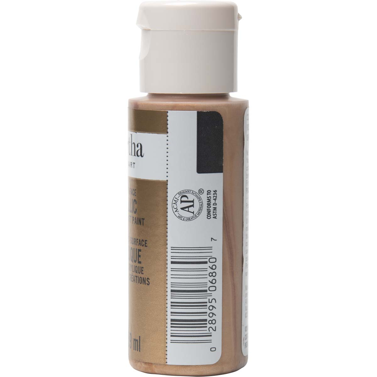 Martha Stewart ® Multi-Surface Metallic Acrylic Craft Paint - Rose Gold, 2 oz. - 33001CA