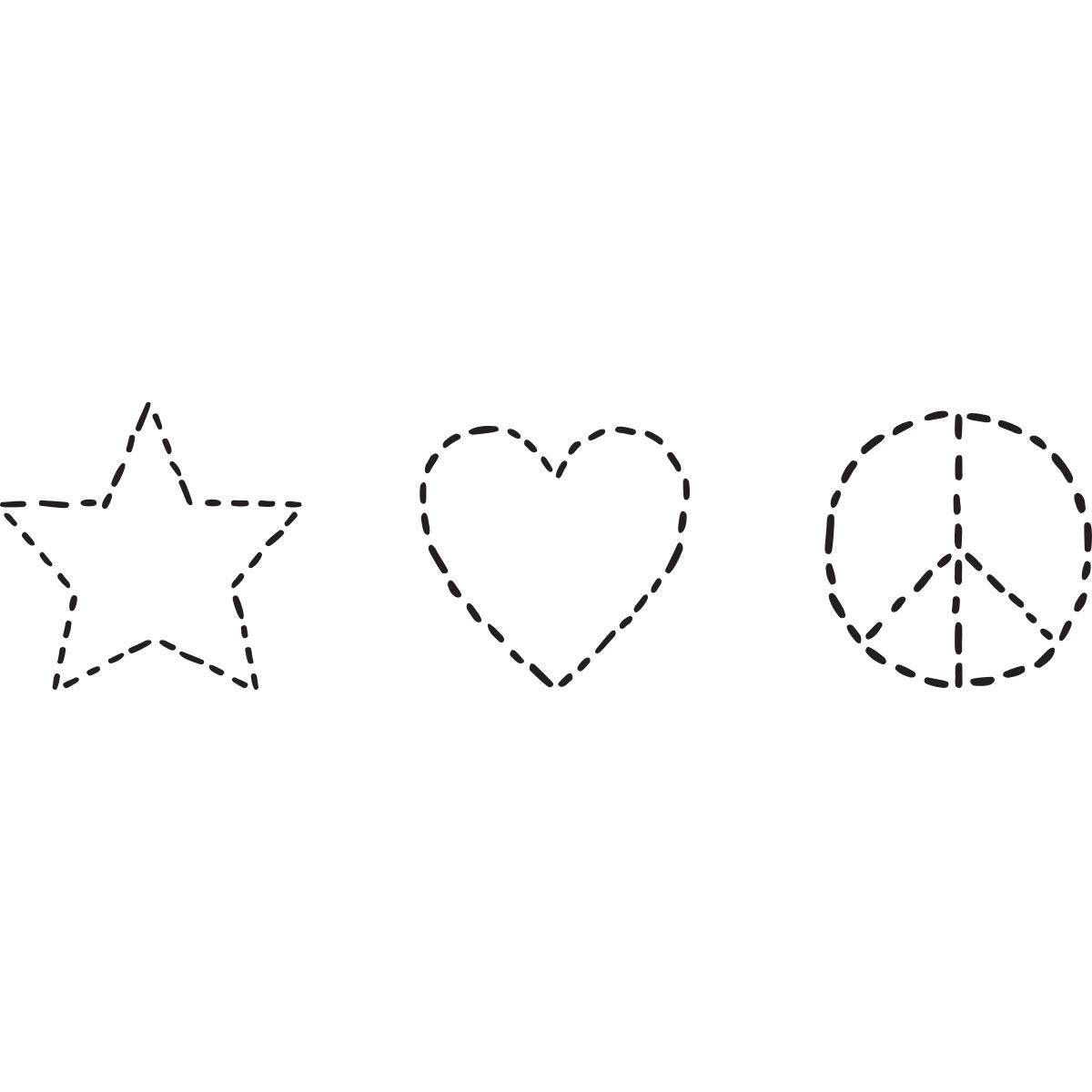 Fabric Creations™ Adhesive Stencils - Mini - Star, 3