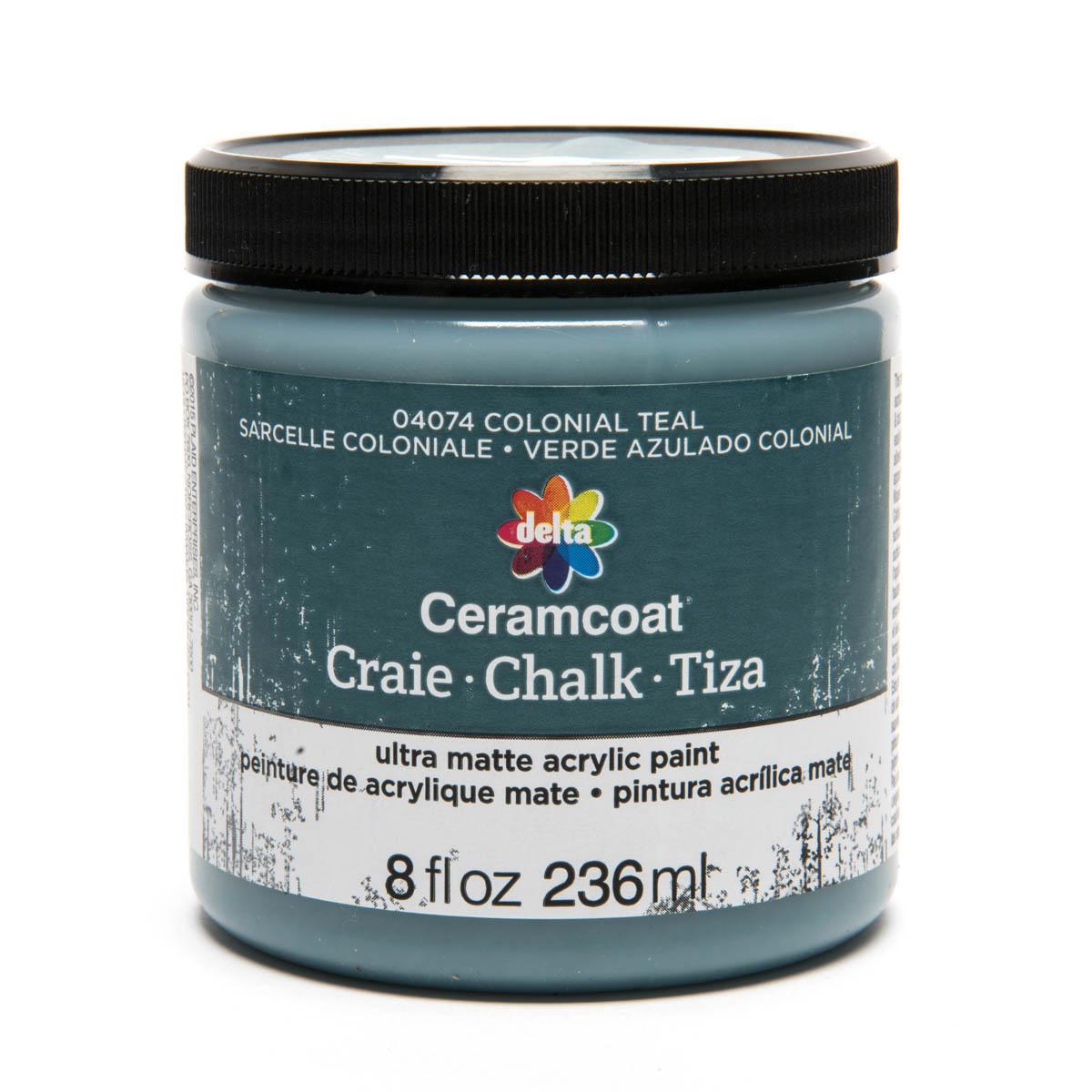 Delta Ceramcoat ® Chalk - Colonial Teal, 8 oz.