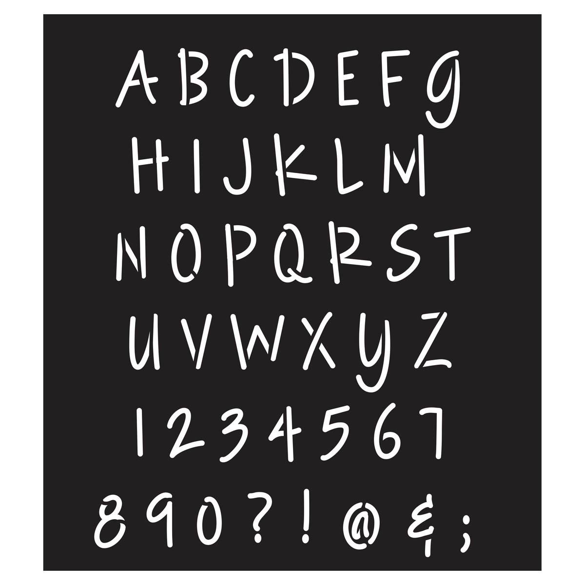 FolkArt ® Painting Stencils - Laser - Alphabet Lite Felt Tip Marker