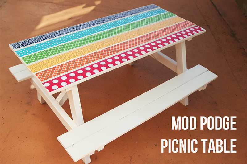Rainbow Picnic Table Project Plaid Online