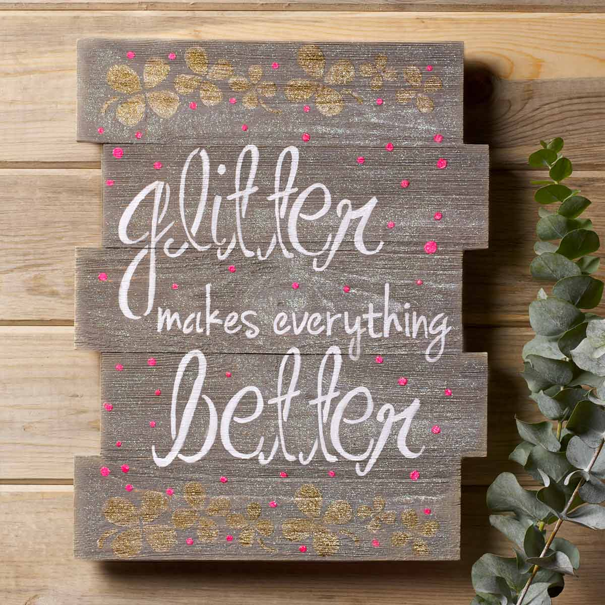 Stenciled Sign for Home Decor