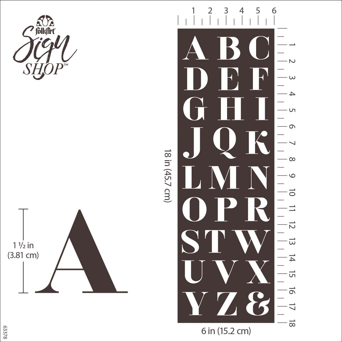 FolkArt ® Sign Shop™ Mesh Stencil - Serif Letters - 63378