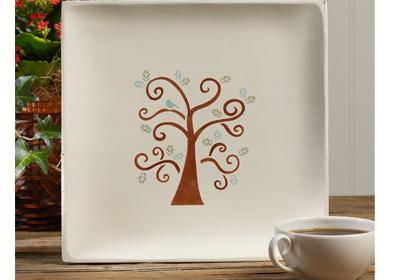 Swirly Tree Platter