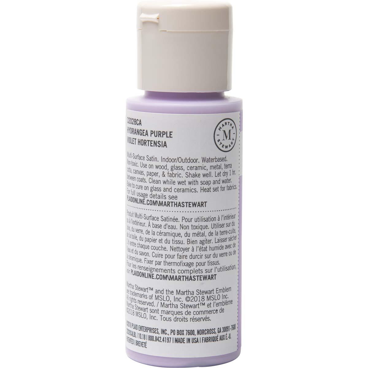 Martha Stewart® 2oz Multi-Surface Satin Acrylic Craft Paint - Hydrangea Purple
