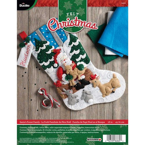 Bucilla ® Seasonal - Felt - Stocking Kits - Santa's Forest Family - 86865