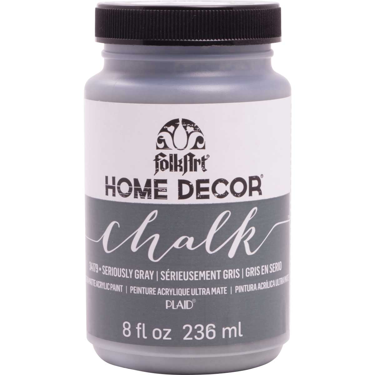 FolkArt ® Home Decor™  Chalk - Seriously Gray, 8 oz. - 34179